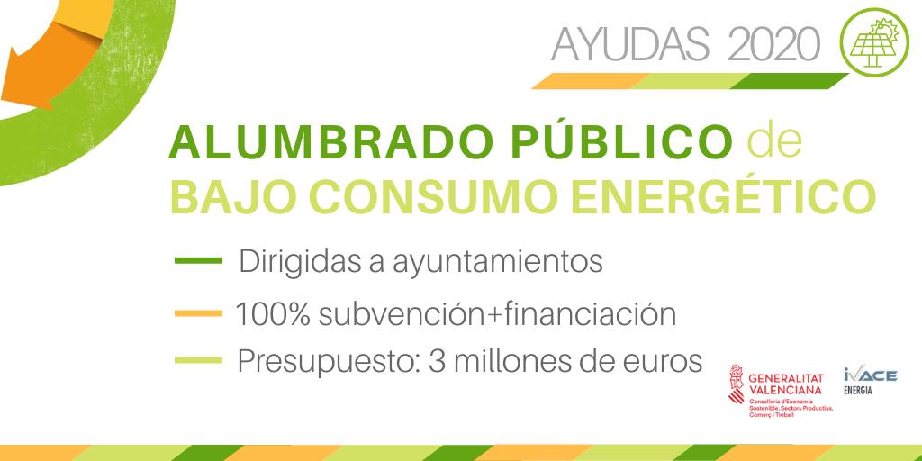 AHORRO Y EFICIENCIA ENERGÉTICA ALUMBRADO PÚBLICO EN MUNICIPIOS CV – 2020